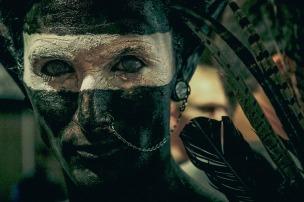 Paint Humans Face Closeup Piercing People Culture