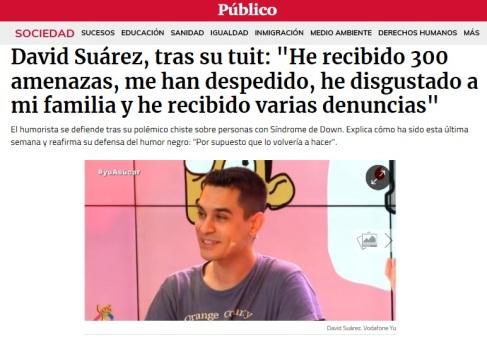 Despido de David Suárez de Vodafone Yu por escribir un tuit (Público)