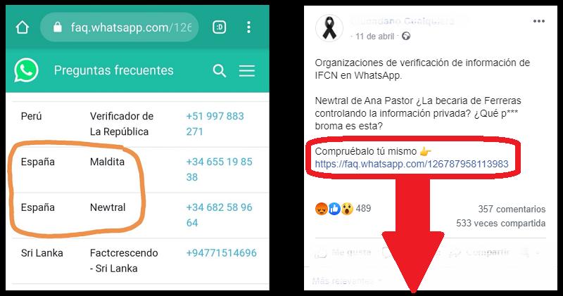 el bulo de Ana Pastor y WhatsApp
